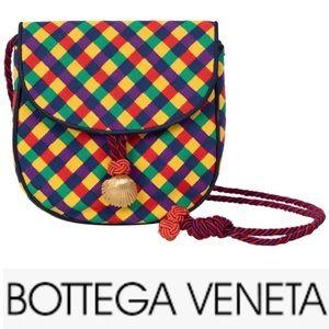 Vintage Bottega Veneta Ribbon GoldShell Crossbody